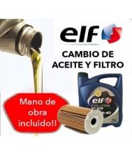 Cambio Aceite y Filtro ELF...