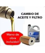 Cambio Aceite y Filtro OPEL...